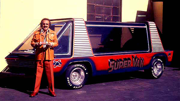 George Barris Shown Here Re Built The Van For Movie Super